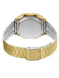 casio collection men s watch grey digital display and casio collection men s watch grey digital display and goldtone bracelet a168wg 9ef casio amazon co uk watches