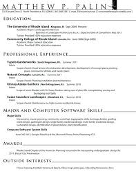 Google Drive Resume Templates Interesting Landscaping Resume Examples Landscape Alternative Snapshot Moreover