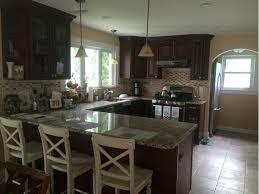 wrap around kitchen counter with granite top