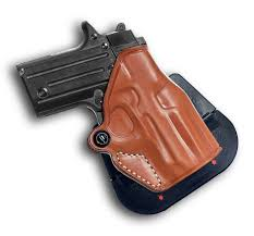 premium leather owb paddle holster with open top fits sig sauer p238 1096 for