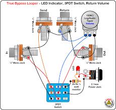 home audio volume control wiring diagram home wiring diagrams true byp looper volume control