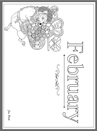 Small Picture Jan Bretts Months of the Year Coloring Pages February