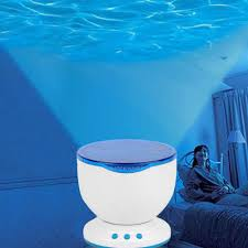 Wave Light Projector Projector Ocean Wave Led Multicolor Dream Night Light Kids Master Decoration Sleeping Holiday Desk Lamp Creative Battery Charger
