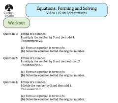 corbettmaths on twitter new textbook exercise forming and solving equations s t co d7ase4orgm t co 6njczz1ryu