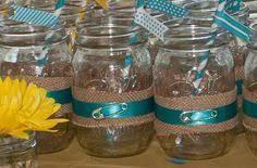 Decorating Mason Jars For Baby Shower frasco tela mecate Frascomanía Pinterest 43