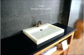 trough bathroom sink with two faucets and gallery of amazing sinks for bathrooms double undermount