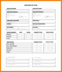 Check Stub Template Free Download 15 Free Paystub Template Bank Statement