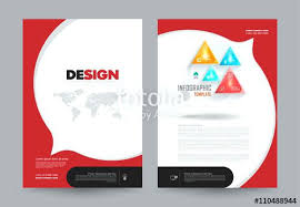 cover annual report leaflet brochure flyer template size design book layout vine free