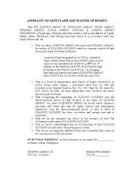 Affidavit Of Quitclaim Public Law Social Institutions