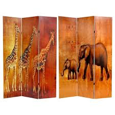 giraffe furniture. Giraffe \u0026 Elephant Double Sided Room Divider - Oriental Furniture A