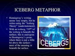 background notes on ernest hemingway and the lost generation ppt  3 iceberg metaphor hemingway s