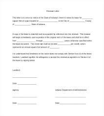 Renewal Of Lease Agreement Letter Rental Agreement Renewal Letter