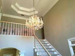 chandeliers for 2 story foyers hang chandelier foyer