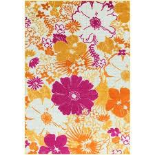 pink flower bath rug designer indoor outdoor hot area 2