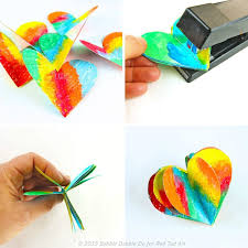 how to make 3d paper hearts these are adorable and are a perfect decoration all on 3d paper heart wall art with 3d paper heart valentine s day craft decoration red ted art s blog
