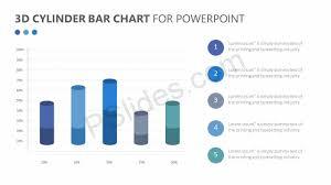 3d Cylinder Bar Chart For Powerpoint Pslides