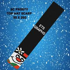 Frostys Top Hat Scarf 30x250 Sc Graph With Written Color Chart