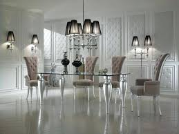 glass dining room table black and white dining room decor with glass top dining room tables