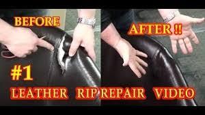 leather rip repair 1 video