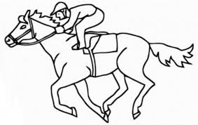 Small Picture Race horse coloring pages
