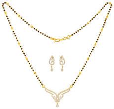 18kt gold diamond mangalsutra set