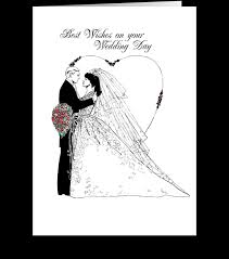 Black And White Greeting Card Wedding Wishes Black And White Send This Greeting Card Designed By