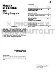 mazda b series pickup truck wiring diagram manual original 2001 mazda b series pickup truck wiring diagram manual original b2500 b3000 b4000