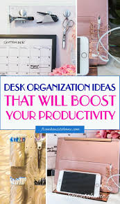 organize office desk. These Desk Organization Hacks Are AWESOME! They Will Definitely Help To Get My Home Office Organized And I Even Use Them For Work Desk, Too! Organize