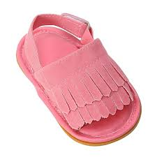 new baby girl soft sole summer pu leather shoes comfortable toddler prewalker sandals red 12cm