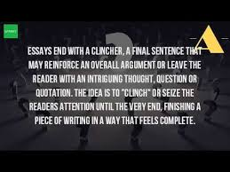 what is a clincher sentence in an essay  what is a clincher sentence in an essay