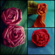 How To Make Flower Using Crepe Paper Crepe Paper Rose Flower Tutorial 10