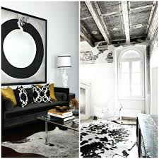 cowhide rug black and white cow fur carpet laying black white living room furniture rustic small cowhide rug black and white