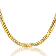 Gold Chain Width Size Chart Solid Miami Cuban Link Chain 4mm