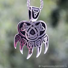 pendants handmade livemaster handmade pendant amulet bear paw print velez
