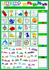 English help for kids, english phonics, english as a second language, with video lessons, examples and songs. Digraphs Sh Ch Th Ph And Wh Worksheet