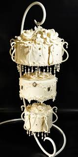 chandelier wedding cake by judy s cakes