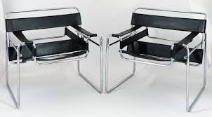 vintage pair of leather and chrome wassily chairs at stdibs