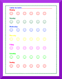 Behavior Smiley Chart Behavior Charts For One Behavior