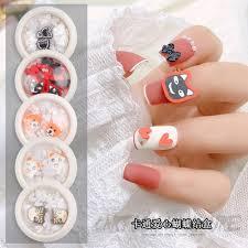 Delicate Resin Bowknot Nail Jewelry DIY Nail Art Decoration Manicure  Cartoon Animals Peach Heart DIY Ornaments Nail Jewelry Rhinestones &  Decorations