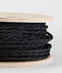 fabric lighting cable 3 core. Fabric Cable For Lighting. OH SO BLACK Twisted Satin Sheen Lighting 3 Core A