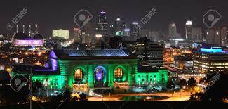 Green Light Kansas City Kansas City Missouri Usa September 5 2015 Kansas City Skyline