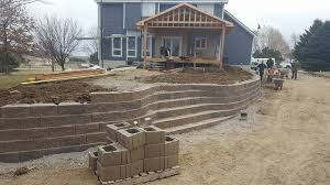 retaining wall omaha ne landscaping project