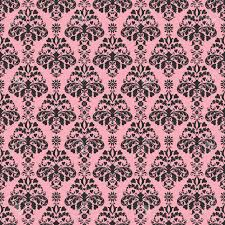 Seamless Pink Black Damask Stock Photo Picture And Royalty Free