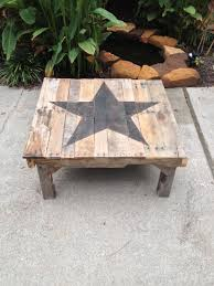 Custom Rustic Farmhouse End Table By TheWoodMarket On Etsy Https Pallet Coffee Table Etsy