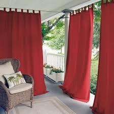 elrene matine red indoor outdoor window curtain panel 52 in w x 95