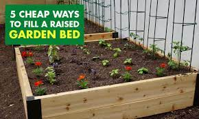 ways to fill a raised garden bed
