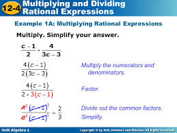 Multiplying And Dividing Rational Expressions Worksheet Answers ...
