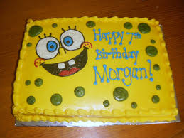 Spongebob Cake Plain And Simple Maybe Birthday Cake Cake