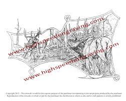 Gun Stock Carving Designs Free Elk Drawing For Gunstock Carving High Speed Engraving
