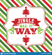 fancy word for green jingle all the way sayings word art stock illustration